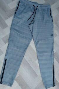 GENUINE  Men,s new balance  tracksuit bottoms size large / GREY / LOVELY