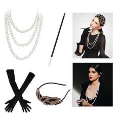 1920s Accessories Hair Flapper Great Gatsby Headpiece Headband Bracelet Set US