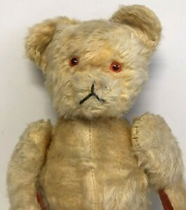 """Antique / Early Jointed Golden Teddy Bear  24"""" (61cm) Tall"""