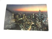 Vintage New York Skyline Empire State Building Card Postcard NY Plastichrome