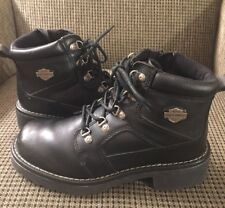 Mens Harley Davidson Boots Black Leather Size 9 Slightly Used Condition