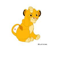 PIN ´S DISNEY FANTASY - SIMBA FROM LION KING ROI LION - 5 CM - LE35