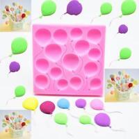 3D Balloon Fondant Mold Cake Decor Chocolate Sugarcraft Baking Mould Silicone w-
