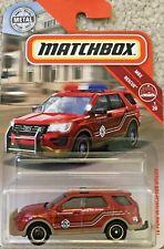 Matchbox Toy Car - Rescue 1/20 -  '16 Ford Interceptor Utility - 42/100