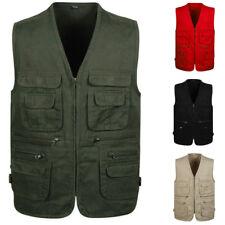 Hot Sale Men's multi-pocket Vest outdoor camping fishing photography Waistcoat