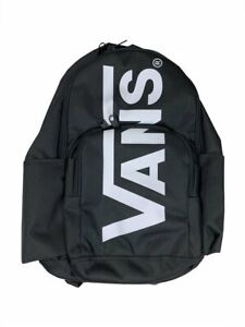 Vans Huge Logo School Youth Backpack Black/White New