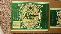 OLD USA AMERICAN BEER LABEL, SICKS RAINIER BREWING SEATTLE, RAINIER ALE 1 Qt 1