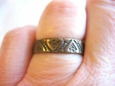 Marked 10K European Medevial Dark Ages Very Old Elaborate Copper Band Ring