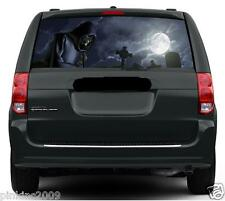 Grim Reaper in Cemetery Car or Caravan Rear Window Vehicle Graphic Sticker/Decal