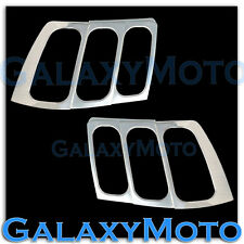 99-04 Ford Mustang Triple Chrome Plated Taillight Tail Light Trim Lamp Cover