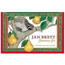 NEW Jan Brett Stationery Set With 48 Blank Cards & Envelopes by Jan Brett