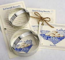 ANN CLARK~BISCUIT CUTTERS~ tin cookie cutter~MADE IN USA (NEW)