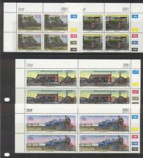 Bophuthatswana 1993 Steam/TRAINS 4v contr blks (n16351)