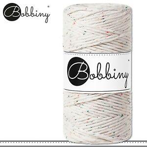 Bobbiny 100 m Makramee-Kordel 3 mm | Rainbow Dust | Hobby Basteln PREMIUM