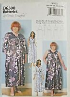 Sewing Pattern Plus Size Robe and Gown XXL 1X 2X 3X 4X 5X 6X Butterick 6300