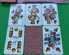 Vintage Piatnik DOPPELDEUTSCHE Nr.183 Playing Cards Spielkarten Cartes Baraja