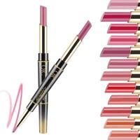 Double-end Lip Makeup Lipstick Pencil Waterproof Long Lasting Tint Sexy Supply