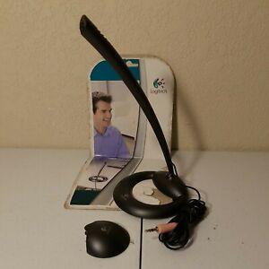 Microphone 600 w/ Stand & Monitor Mount, Skype Logitech Desktop