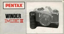 179891 PENTAX WINDER ME II GENUINE INSTRUCTION MANUAL