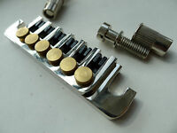 Genuine Epiphone TP 6 Fine Tuning Stop Tailpiece System Chrome