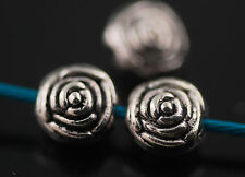 Bulk 50pcs Silver Jewelry Making Metal Beads Spacer Craft Finding 5x7mm Charms