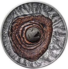 NIUE 2015 $2 VESUVIUS VOLCANO POMPEII LAVA 2 Oz Silver Coin.