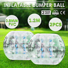 2 piezas 1.2M Bumper Ball Body Bubble Football Zorb Termosellada Inflable Soccer