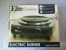 Elite Cuisine ESB 301BF Single Electric Cast Iron Heating Plate Burner Hotplate