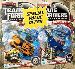 Transformers Movie Dark of the Moon Nitro Bumblebee + Thundercracker New Sealed