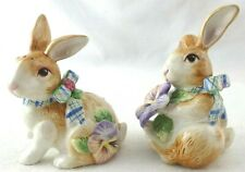 Fitz and Floyd Classics Bunny Rabbit Salt and Pepper Shakers Easter/Spring