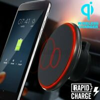 Qi Wireless Car Charger Magnetic Air Vent Mount Holder Fast Charging For iPhone