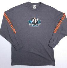 Mavericks Surf Contest Shirt Size Large 2009-2010 Long Sleeve Gray Made In USA