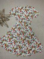 Liz Claiborne Vintage Floral Dress Size 4 With Pockets!