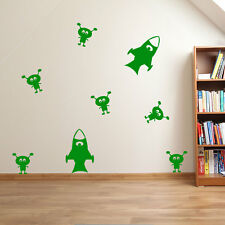 Rockets and Aliens Wall Stickers Nursery Vinyls Kids Decal Children Playroom A31