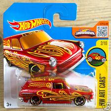 Hot Wheels Custom'69 Volkswagen Squareback tipo 3 1600TL Station Wagon-Rojo