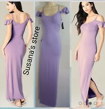 NWT bebe Cold Shoulder Maxi Dress SIZE L Sexy with bebe logo!