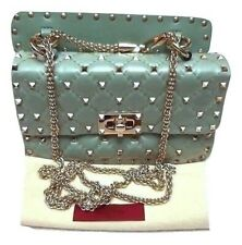 Authentic Valentino Quilted Rockstud Chain Shoulder Bag