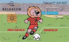 Belgacom telecard  200 BEF Red Devils Diabolix  exp 31-05-2000