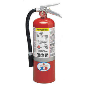 BADGER 5MB-6H Fire Extinguisher, 5 lb ABC Dry Chemical 22435