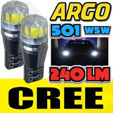 2x 501 cree libre de error Canbus Led Smd Cola Trasero Luz Xenon Blanco bombillas T10 W5w