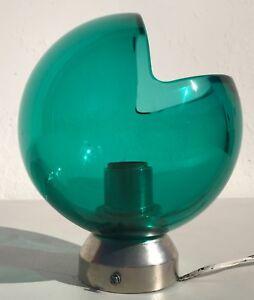 Vintage Modern Green Glass Lamp Sconce Light Globe MCM