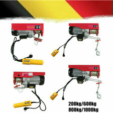 Electric Hoist Winch Lifting Engine Crane Cable Overhead Lift 200-1000KG DHL NEW