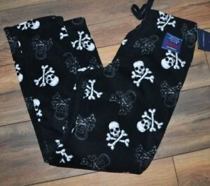 Croft & Barrow Brushed Fleece Pants Soft & Warm Skulls Lounge Pants PJ