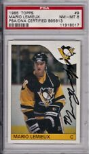 1985 Topps Mario Lemieux Psa 8.Rare Rookie with Full Signature.Psa Authentic