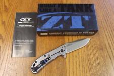 NEW KAI Zero Tolerance 0566 A/O Folding Knife Stonewash ELMAX, SS & G-10 ZT0566