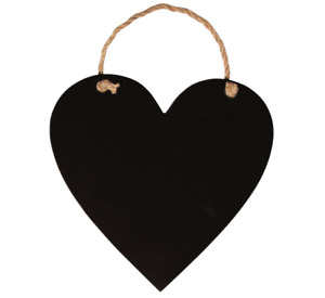 Sass & Belle Retro Chic Small Heart Chalkboard Black Note Board Home Plaque Sign