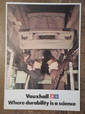 VAUXHALL orig 1976 UK Mkt Durability Reliability Quality Publicity Brochure