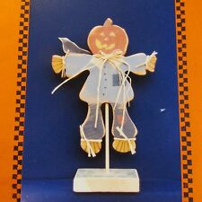Pumpkin Head Scarecrow Wood Craft Pattern Own Hands Fall/Halloween Decor New