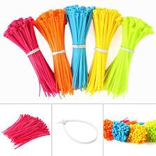 100pcs Nylon Plástico Bridas Resistente Industrial Cable Zip Atados Set