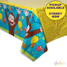 CURIOUS GEORGE BIRTHDAY PARTY SUPPLIES PLASTIC TABLECLOTH TABLE COVER